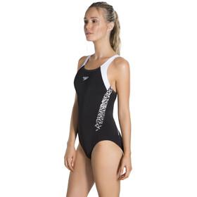 speedo Boom Splice Muscleback Swimsuit Women Black/White